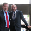 AGS-Bundesvorsitzende Christian Flisek und der Präsident des Europäischen Parlamentes Martin Schulz.
