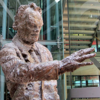 Bronzestatue Willy Brandt