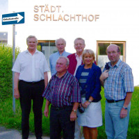 SPD-Fraktion vor dem Städtischen Schlachthof