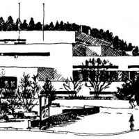 Schulzentrum Tuschezeichnung