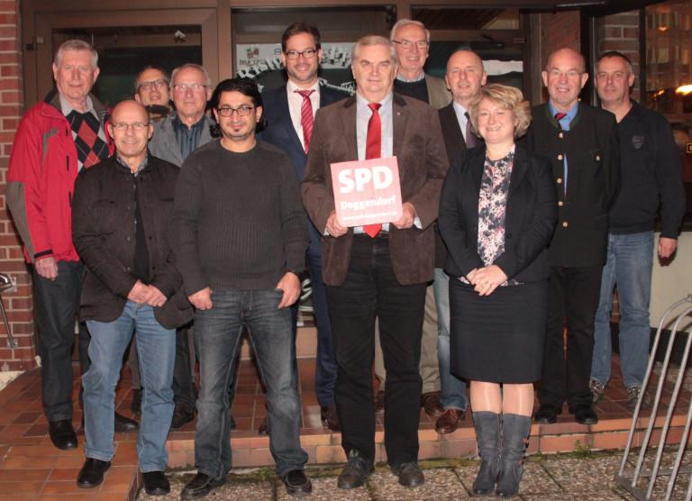 Vorstandschaft des SPD-Ortsvereins Deggendorf (2015)