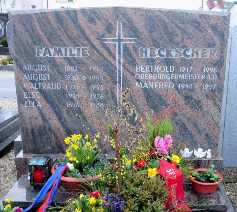 Grabstätte von OB Berthold Heckscher